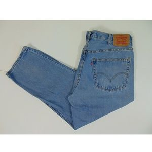Levis 505 Men 38 x 30 Straight Relaxed Blue Jeans